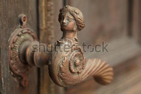 Stock photo: Vintage door handle