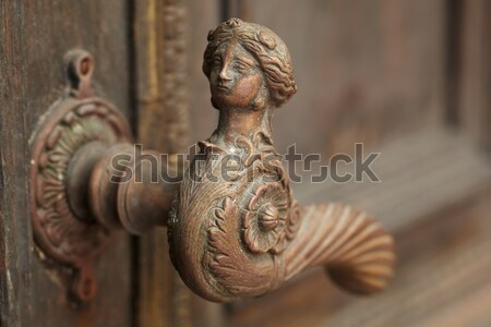 Vintage drzwi uchwyt Tallinn Estonia Zdjęcia stock © d13