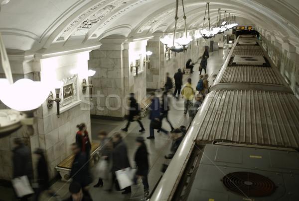 Blurred people on subway platform. Stock photo © d13