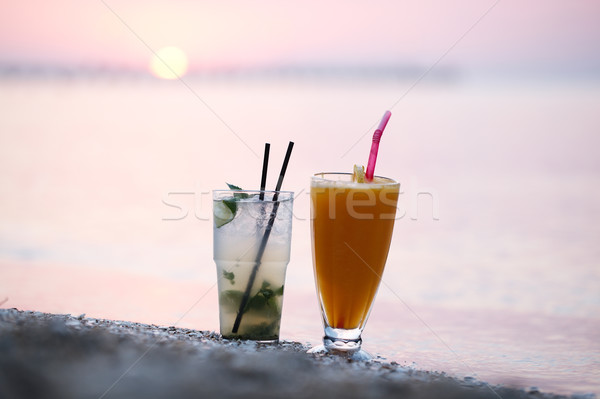 Cocktails at sunset Stock photo © d13