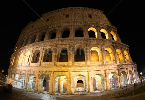 Колизей Рим выстрел ночь каменные архитектура Сток-фото © d13