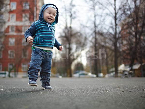 ストックフォト: 最初 · 手順 · 独立した · 子供 · 自然 · 色