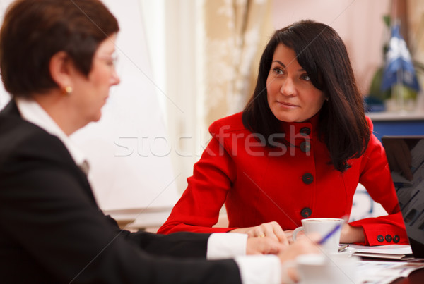 Two serious women in a business meeting Stock photo © d13