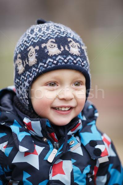 Cute happy little boy Stock photo © d13