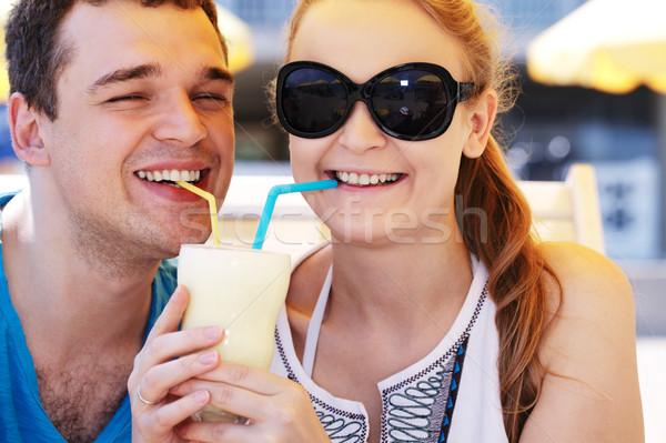 ロマンチックな カップル カクテル 飲料 ストックフォト © d13
