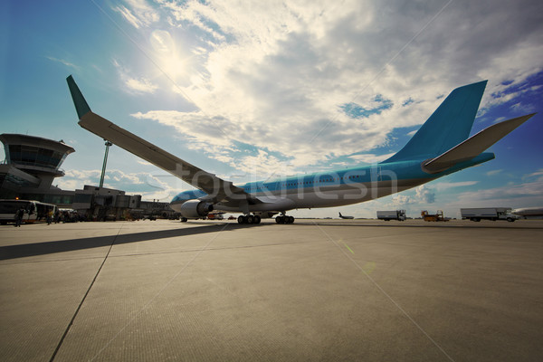 Airplane at the terminal Stock photo © d13