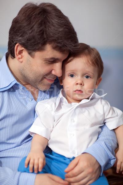 счастливым гордый сын Семейный портрет молодые отец Сток-фото © d13