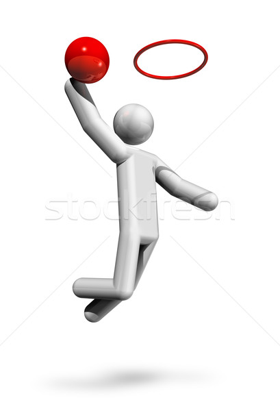 Basketball 3D symbol Stock photo © daboost