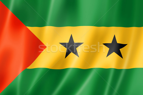 Sao Tome and Principe flag Stock photo © daboost