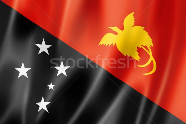 Папуа-Новая Гвинея флаг оказывать атласных текстуры Сток-фото © daboost