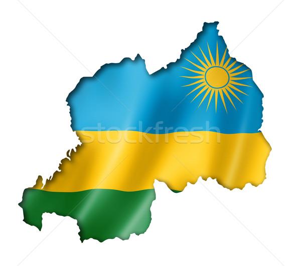Rwanda pavillon carte isolé Photo stock © daboost