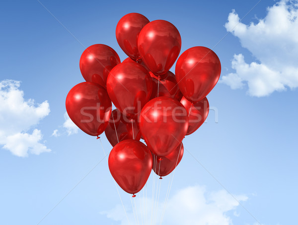 red balloons on a blue sky Stock photo © daboost