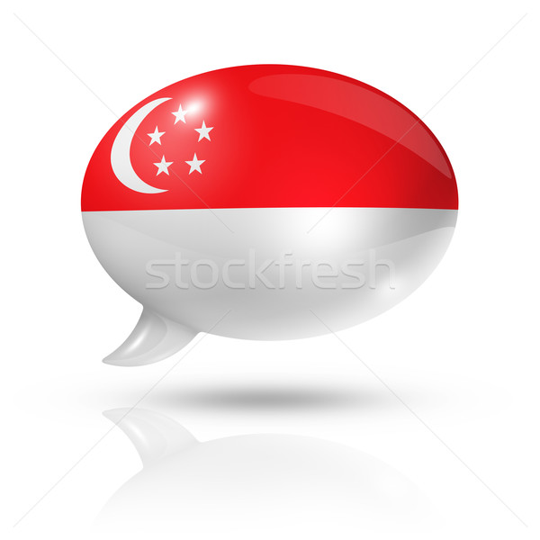 Singapore flag speech bubble Stock photo © daboost