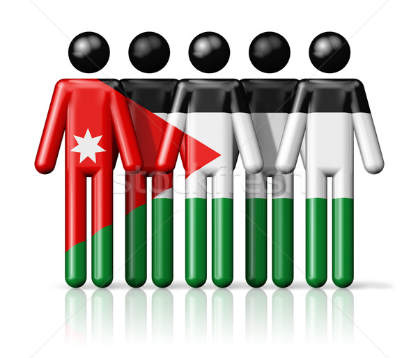 Bandeira Jordânia social comunidade símbolo Foto stock © daboost