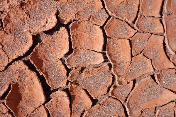 Foto stock: Secar · lama · textura · aquecimento · global · deserto · quebrado