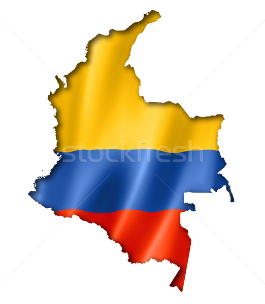 Colombian flag map Stock photo © daboost