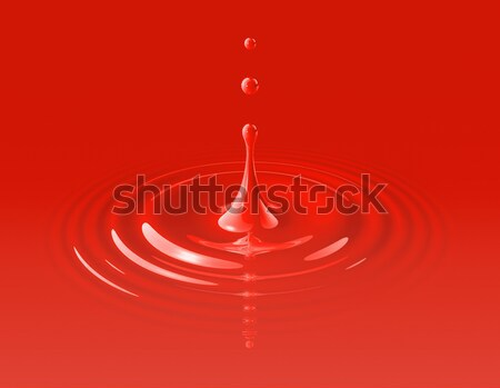 drop of red blood and ripple Stock photo © daboost