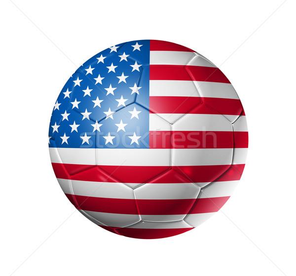 Voetbal voetbal bal USA vlag 3D Stockfoto © daboost