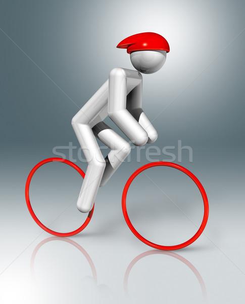 Ciclismo estrada 3D símbolo esportes tridimensional Foto stock © daboost