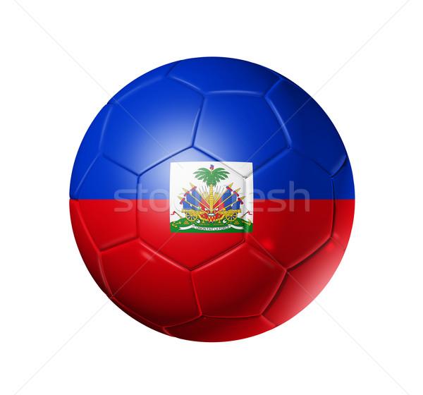 Calcio calcio palla Haiti bandiera 3D Foto d'archivio © daboost