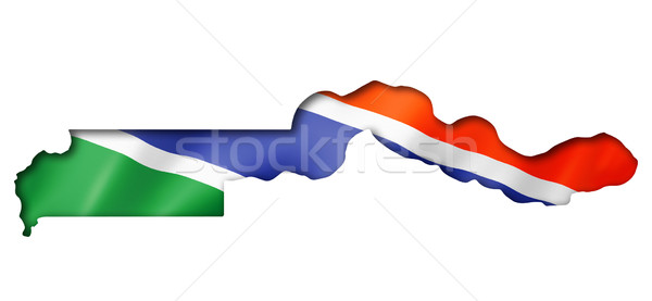 Gambian flag map Stock photo © daboost