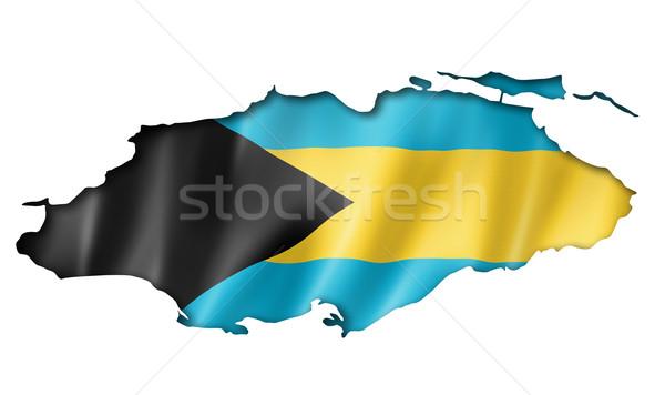 Bahamian flag map Stock photo © daboost