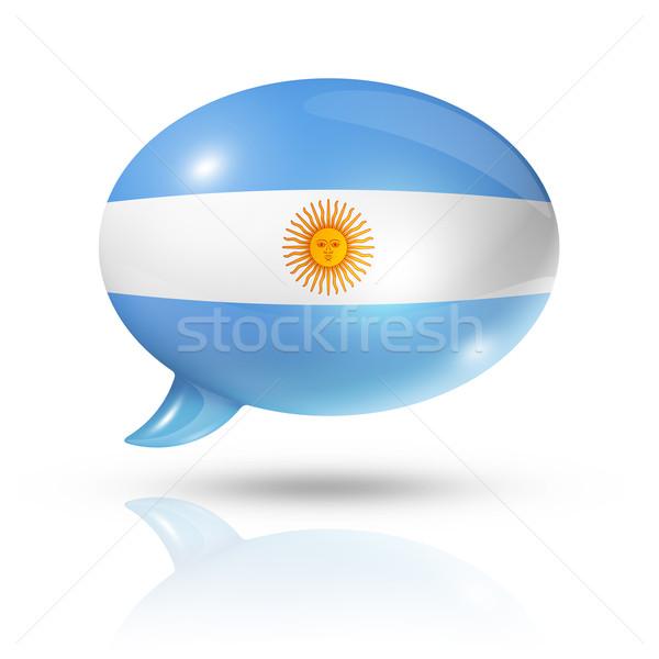 Argentinian flag speech bubble Stock photo © daboost