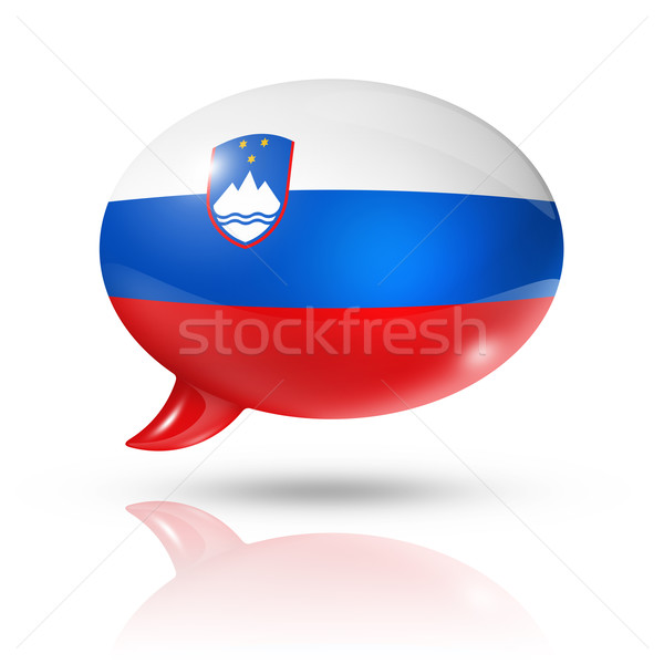 Slovenian flag speech bubble Stock photo © daboost