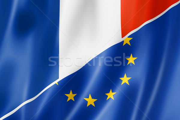 France and Europe flag Stock photo © daboost