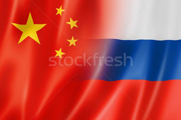 China Rusia bandera mixto tridimensional hacer Foto stock © daboost