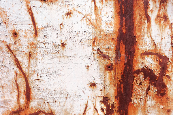 old rusty painted metal wall Stock photo © daboost