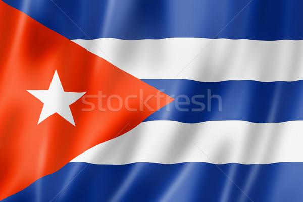 кубинский флаг Куба оказывать атласных Сток-фото © daboost