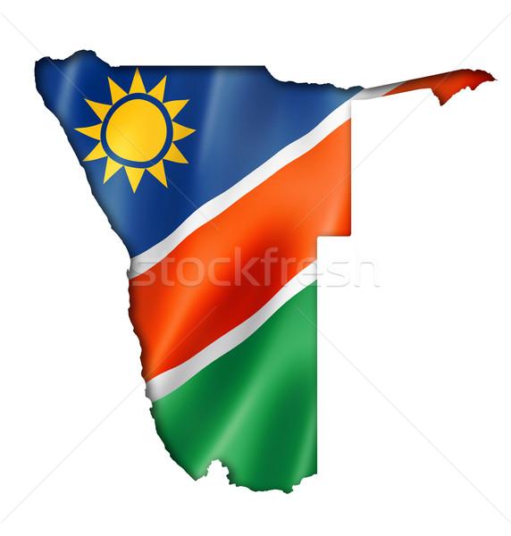 Namibian flag map Stock photo © daboost