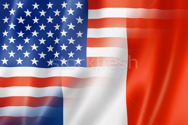 USA and France flag Stock photo © daboost