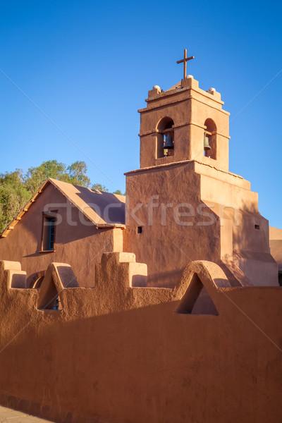 Templom öreg égbolt utca hegy narancs Stock fotó © daboost