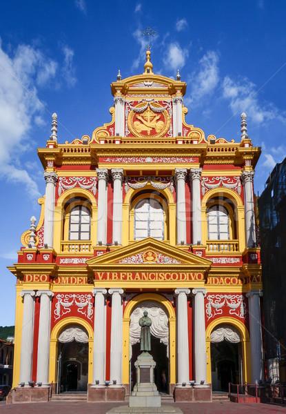 Chiesa cielo blu cielo costruzione blu architettura Foto d'archivio © daboost