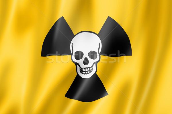 放射性 核 シンボル 死 フラグ ストックフォト © daboost