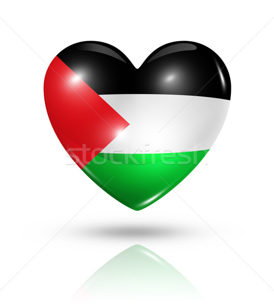 Love Palestine, heart flag icon Stock photo © daboost