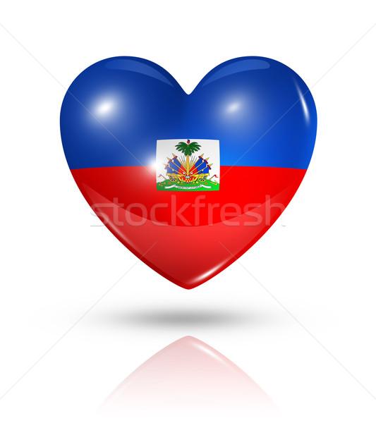 愛 ハイチ 中心 フラグ アイコン シンボル ストックフォト © daboost