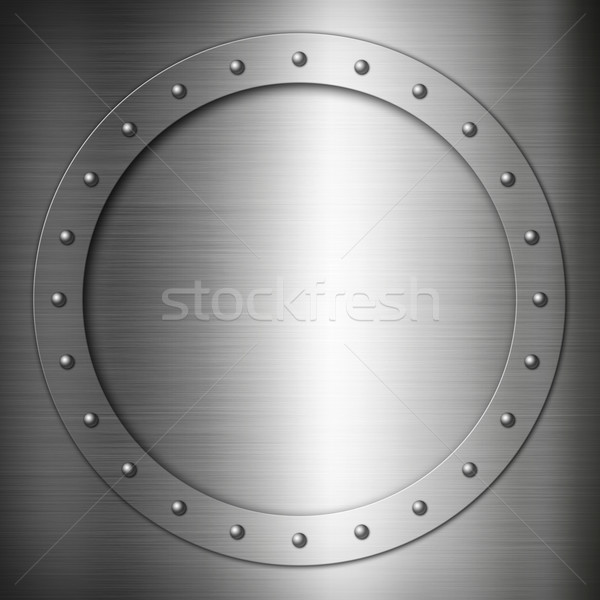 Brushed Steel round frame Stock photo © daboost