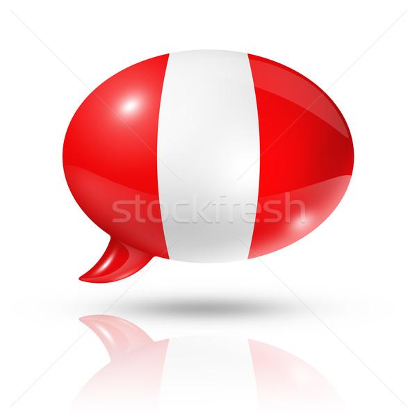 peruvian flag speech bubble Stock photo © daboost