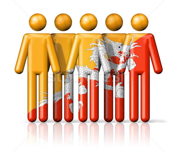 Bandeira Butão social comunidade símbolo Foto stock © daboost