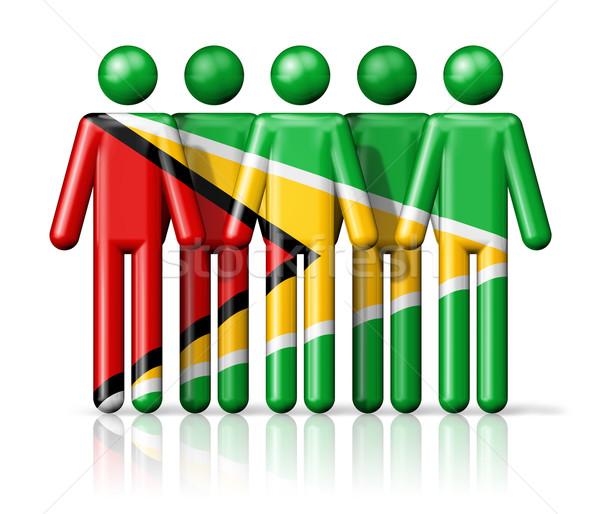 Vlag Guyana sociale gemeenschap symbool Stockfoto © daboost