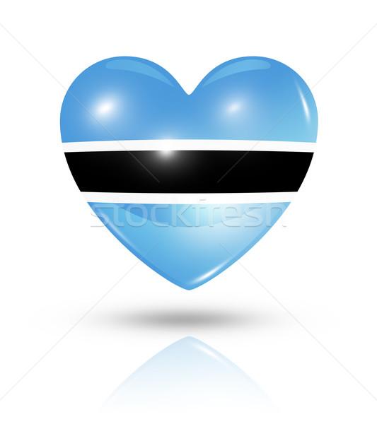 Miłości Botswana serca banderą ikona symbol Zdjęcia stock © daboost
