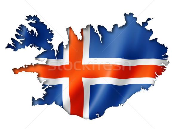 Icelandic flag map Stock photo © daboost