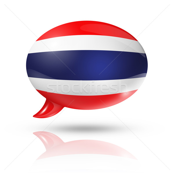 Thai flag speech bubble Stock photo © daboost