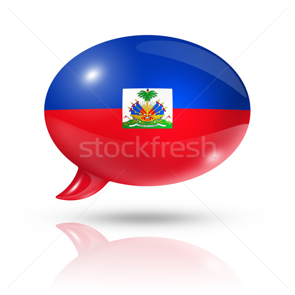 Haitian flag speech bubble Stock photo © daboost