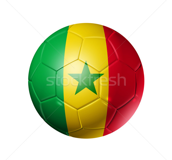 Football football balle Sénégal pavillon 3D Photo stock © daboost