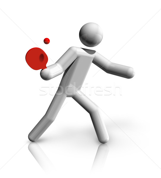 Table Tennis 3D symbol Stock photo © daboost