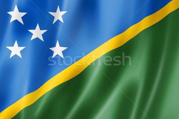Isole Salomone bandiera tridimensionale satinato texture Foto d'archivio © daboost